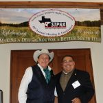 Director Lavoyger D-urham, with State Re-presentative Ryan Guillen at the STPRA's 10th Annual Meeting & Fundraiser